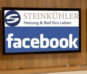 Das Logo von Steinkuehler plus Schriftzug von Facebook im Rahmen