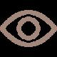 Ein Auge in brauner Optik